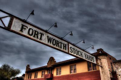 Fort Worth Stockyards Welcome Poster by Jonathan Davison