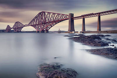Forth Rail Bridge Poster by Martin Vlasko