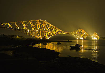 Forth Rail Bridge Scotland Poster by Buster Brown