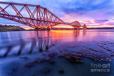 Forth Rail Bridge Stunning Sunrise Poster