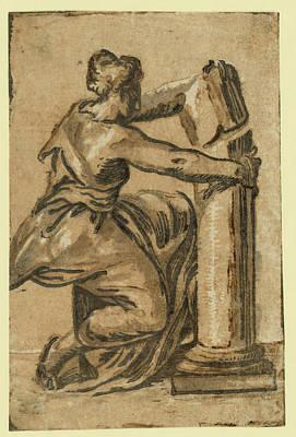 Fortitude, Between 1500 And 1610 Poster by Carpi, Ugo Da (c.1480-1520/32), Italian