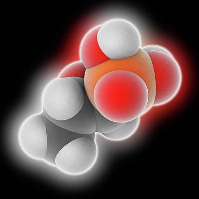 Fosfomycin Drug Molecule Poster by Laguna Design