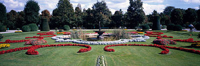 Fountain In A Garden, Belvedere Garden Poster by Panoramic Images