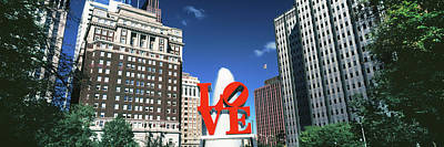 Fountain In A Park, Love Park Poster