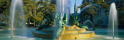 Fountain In Front Of A Building, Logan Poster by Panoramic Images