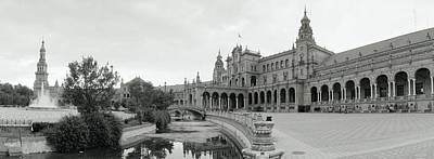 Fountain In Front Of A Building, Plaza Poster by Panoramic Images