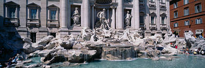 Fountain In Front Of A Building, Trevi Poster