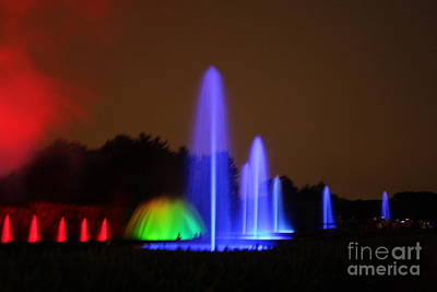 Poster featuring the photograph Fountain Show At Longwood Gardens by Vadim Levin