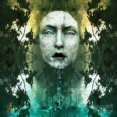 Poster featuring the digital art Fountainhead Dream by Rosa Cobos