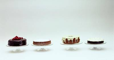 Four Cakes Side By Side Poster by Romulo Yanes