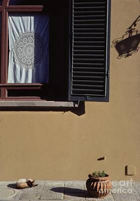 Four Corners Composition At Villa Aurora Florence Poster