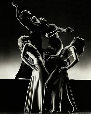 Four Dancers Of The Albertina Rasch Ballet Group Poster by Edward Steichen