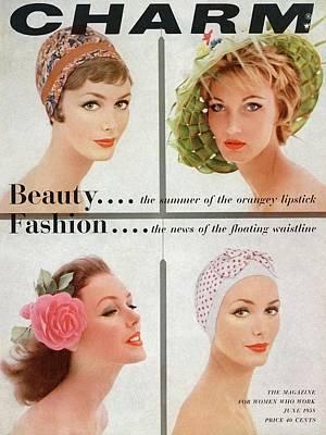 Four Models Faces Poster by Louis Faurer
