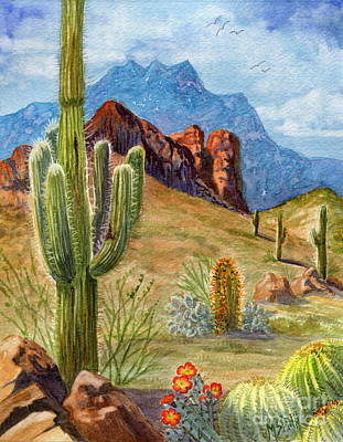 Four Peaks Vista Poster by Marilyn Smith