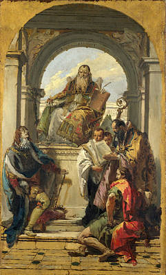 Four Saints Poster by Giovanni Battista Tiepolo