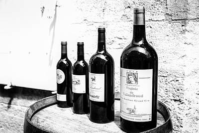 Four Wine Bottles Poster