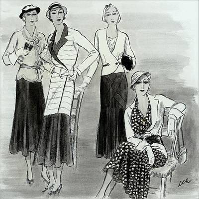 Four Woman Wearing Paray Poster by Creelman