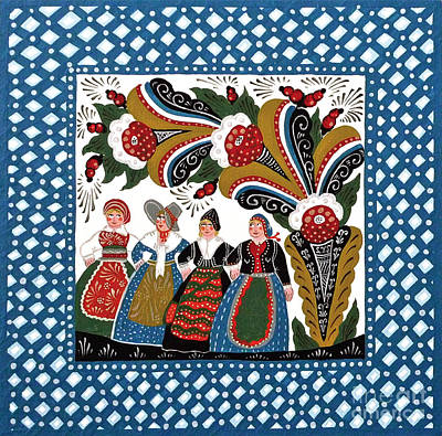 Four Women Dancing Poster