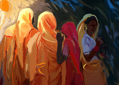 Four Women Poster by Shubnum Gill