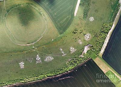 Fovant Badges, Aerial Photograph Poster by Getmapping Plc
