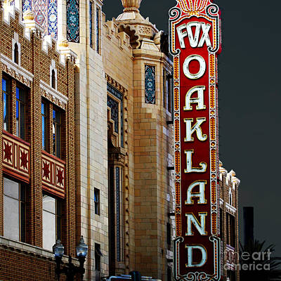 Fox Theater In Oakland California Square Poster by Wingsdomain Art and Photography