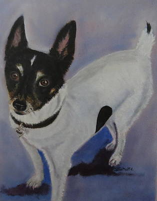 Poster featuring the painting Foxy by Sharon Schultz