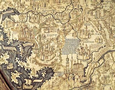 Fra Mauro  -1460. Fra Mauro Map. 1459 Poster by Everett