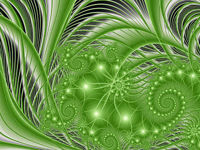 Fractal Abstract Green Nature Poster