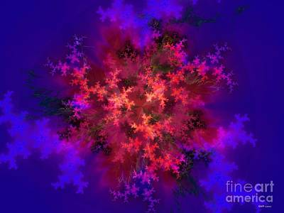 Fractal Bouquet 3 Poster by Elizabeth McTaggart