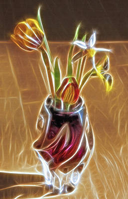 Fractal Bouquet Poster by Steve Ohlsen