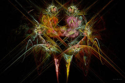 Fractal - Christ - Angels Embrace Poster