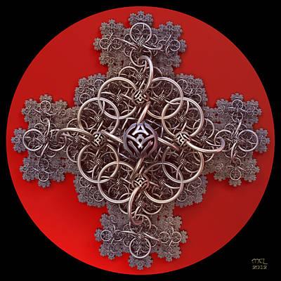 Fractal Cruciform Poster