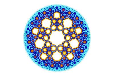 Fractal Escher Winter Mandala 3 Poster by Hakon Soreide