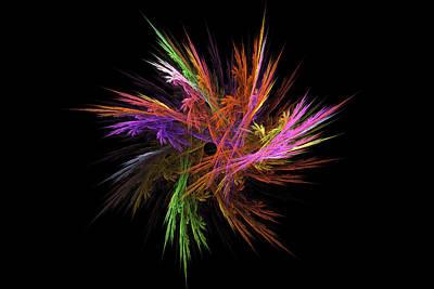 Fractal Flame - Digital Flower Image - Modern Art Poster