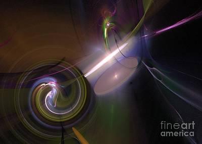 Poster featuring the digital art Fractal Multi Color by Henrik Lehnerer