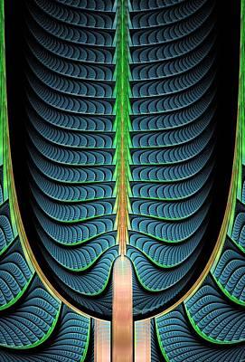 Fractal Pine Tree Poster by Anastasiya Malakhova