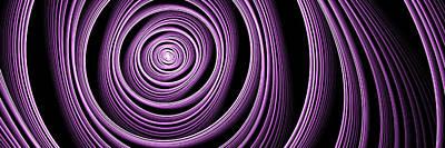 Fractal Purple Swirl Poster by Gabiw Art