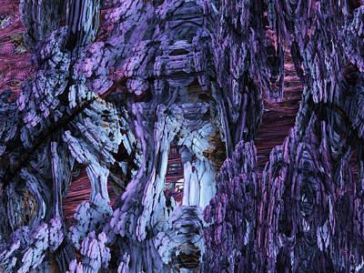 Poster featuring the digital art Fractal121413 by Matt Lindley