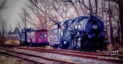 Fractalius Choo Choo Train Poster by Jim Lepard