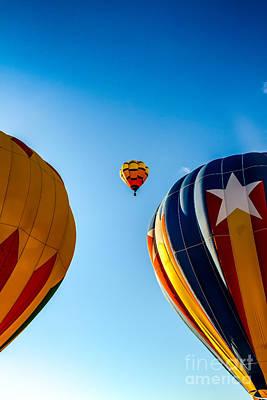 Framed Hot Air Balloon Poster by Robert Bales