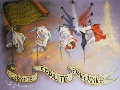 France Belle Et Rebelle Un Poster by Guillaume Bruno