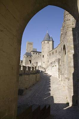 France. Carcassonne. Medieval City Or Poster by Everett