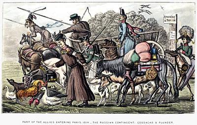France Cossacks, 1814 Poster