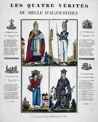 France Four Truths, C1825 Poster