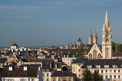 France, Normandy, Caen, Elevated City Poster
