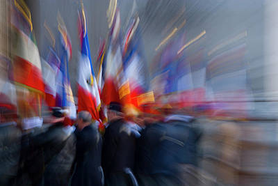 France, Paris Military Ceremony Poster by Jaynes Gallery