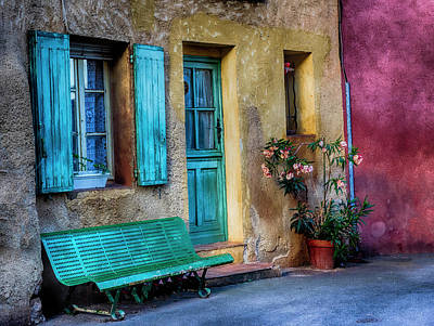 France, Provence, Roussillon, Colorful Poster by Terry Eggers