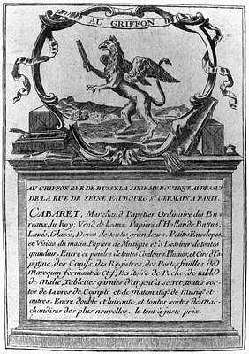 France Trade Card, 1780s Poster