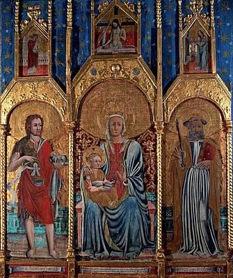 Francesco Da Pavia, Madonna And Child Poster by Everett