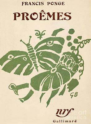 Francis Ponge: Proemes Poster